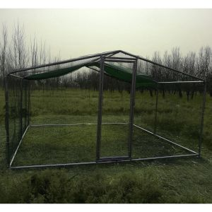 grand-enclos-poulailler-parc-grillage-renforce-tube-38mm-2x4x2.25m---vue-face