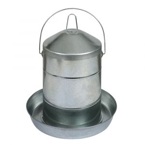 Abreuvoir-poule-en-acier-galvanisé-avec-anse-12L---Gaun