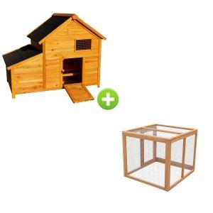 Poulailler Bantam XL toit shingle avec enclos