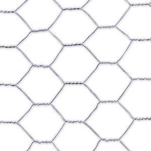 Grillage poulailler acier galvanisé triple torsion 25m Galvanex de Nortene détail