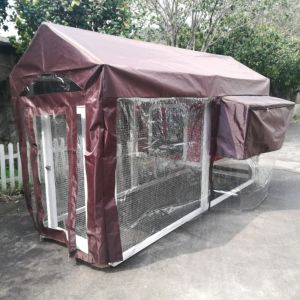 Housse de protection pluie pour poulailler Deluxe toit shingle