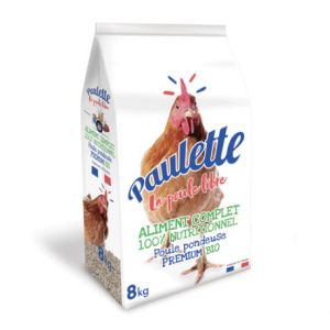 Paulette multi-céréales poules Bio sans logo AB 8 Kg