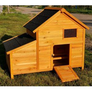 Poulailler-Bantam-XL-toit-shingle-noir-1-À-2-poules-vue-profil