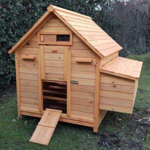 Poulailler Cémani XL toit bois 6 à 8 poules
