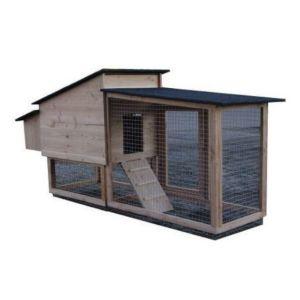 Poulailler français Chico 60 Epicéa toit shingle jusqu'à 3 poules bois PEFC