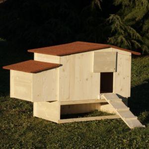 Poulailler-français-Piou+-Epicéa-toit-shingle-jusqu'à-6-poules-bois-PEFC