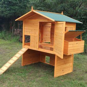 Poulailler-Vorwerk-toit-shingle-jusqu'à-18-poules