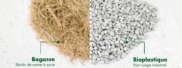 Fabrication du bioplastique à l'aide de résidus de canne à sucre