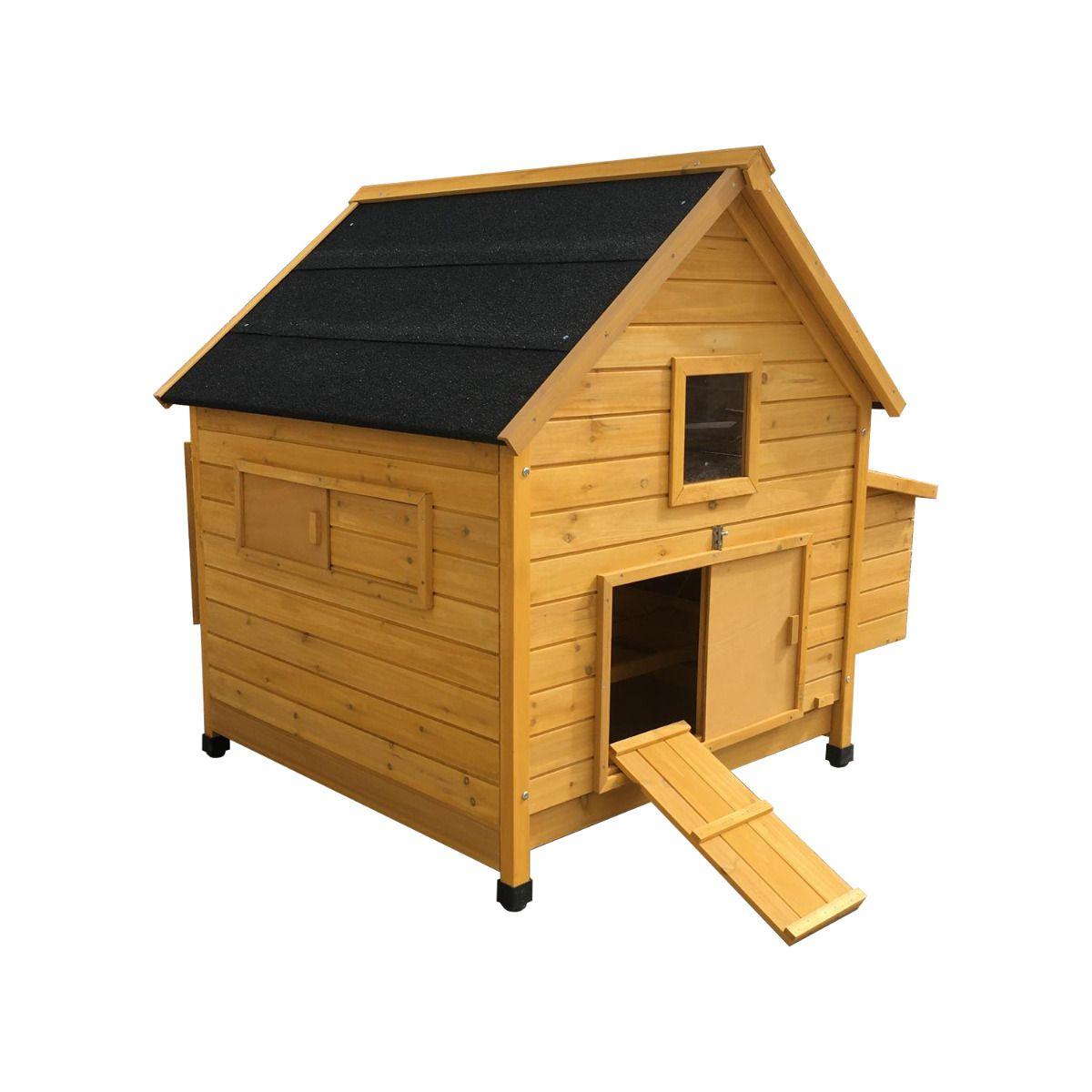 Poulailler design moderne toit noir Cémani